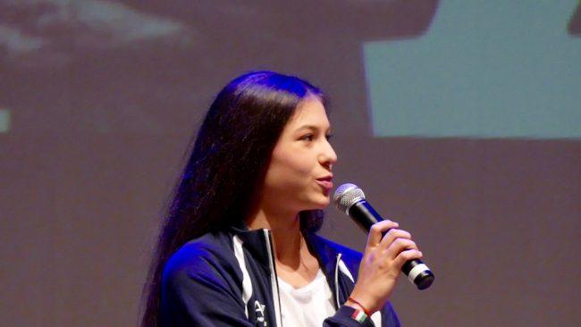 la ginnasta ritmica Milena Baldassarri, sesta alla finale del nastro ai mondiali di Pesaro 2017