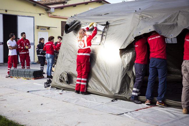 croce rossa tenda
