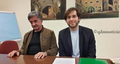 Giobi con il Coordinatore della Provincia di Ancona di Art. UNO Mdp, l'Ing. Gianfranco Leonelli