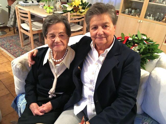 Ida con la figlia Lorella Bartocci