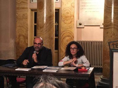 Il pres. Amat Santini e l'assessora alla cultura Venanzoni