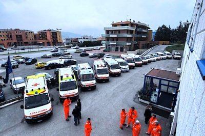 la sede della Croce Azzurra di Fabriano
