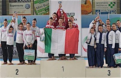 la Ginnastica Fabriano è campionessa d'Italia A1