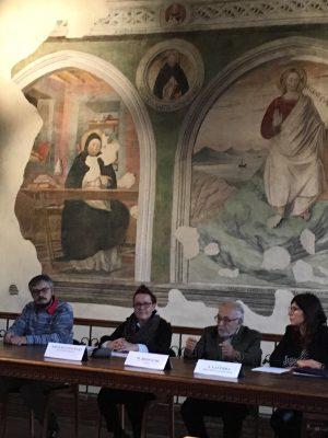 la conferenza stampa nel Museo della Carta di Fabriano