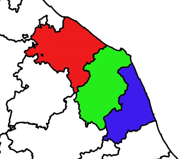 Politiche la mappa del voto nelle marche cronache ancona for Numero deputati senatori