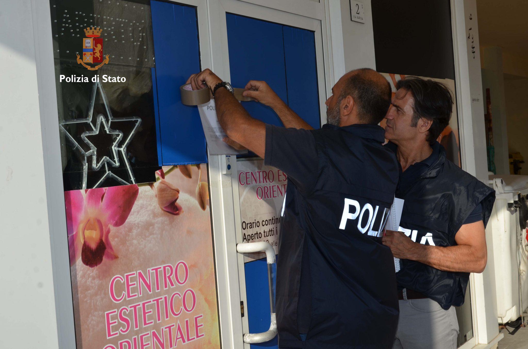 Il centro massaggi una copertura polizia sequestra la - Centro benessere a casa ...