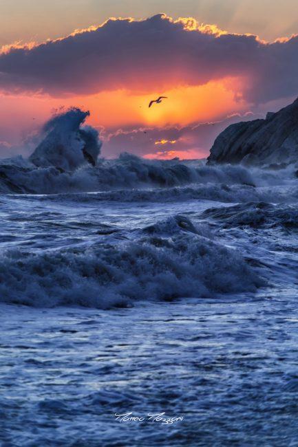 L'alba fotografata a Portonovo da Matteo Mazzoni