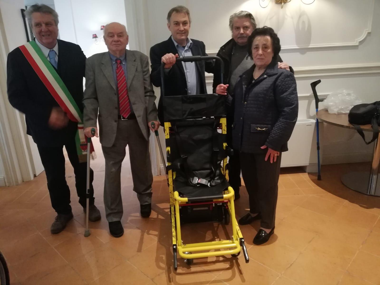 Sedia Trasporto Disabili Scale  silicon valley