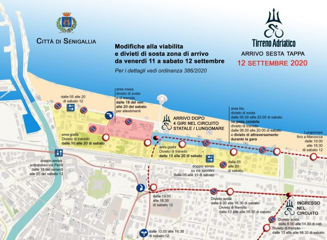 Cartina Italia Senigallia.Tirreno Adriatico A Senigallia Viabilita E Raccomandazioni Cronache Ancona